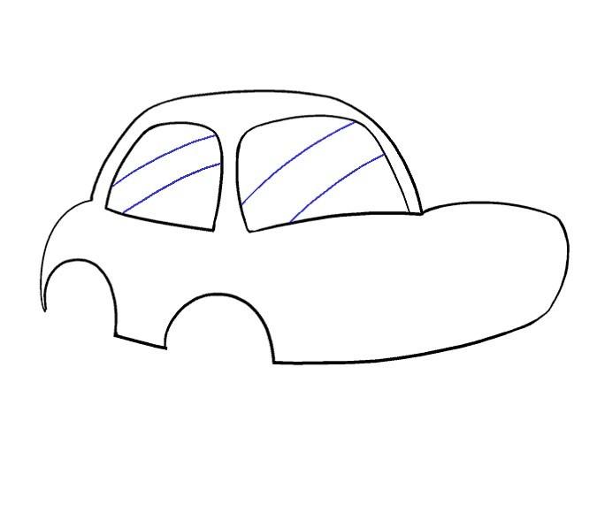 آموزش نقاشی ماشین مرحله نهم