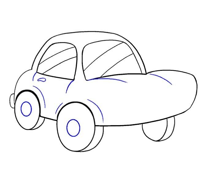 آموزش نقاشی ماشین مرحله سیزدهم