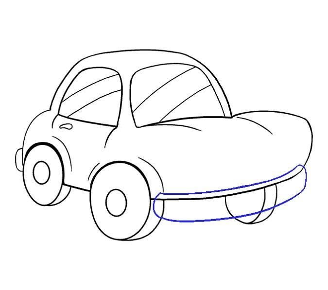 آموزش نقاشی ماشین مرحله چهاردهم
