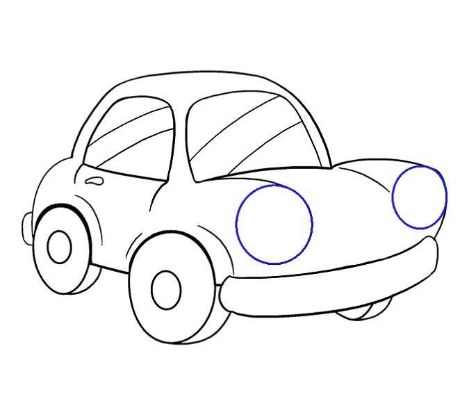 آموزش نقاشی ماشین مرحله شانزدهم