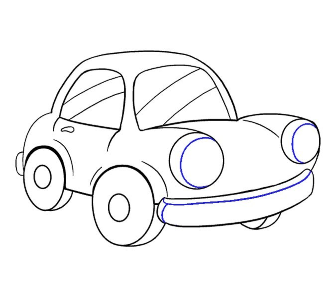 آموزش نقاشی ماشین مرحله هفدهم