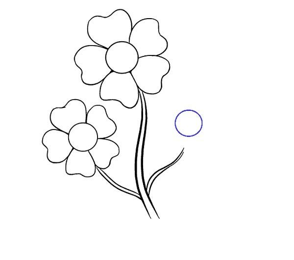 نقاشی گل کارتونی