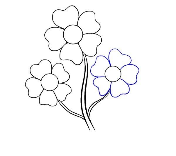 آموزش نقاشی گل کارتونی
