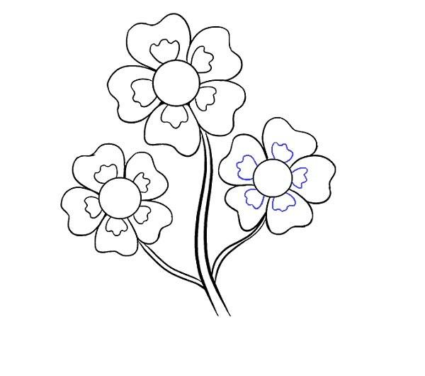 آموزش آسان نقاشی گل کارتونی