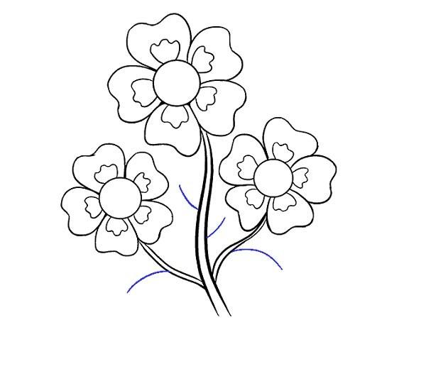 نقاشی ساده از گل کارتونی