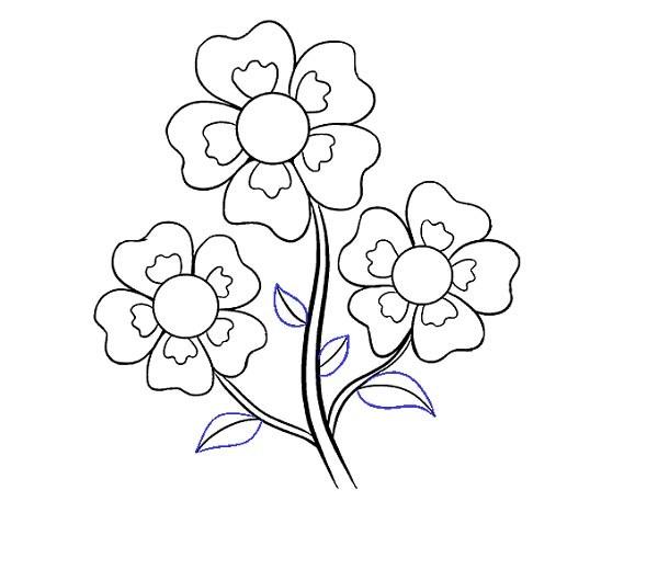 نقاشی گل کارتونی برای بچه ها