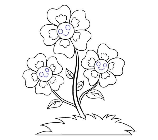 روش راحت کشیدن گل کارتونی