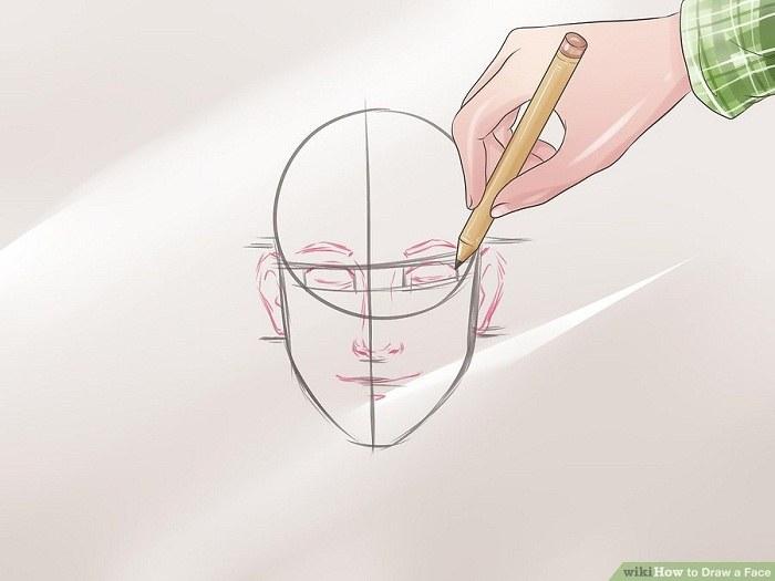 شکل چشم ها بینی گوش دهان و ابرو را نقاشی کنید