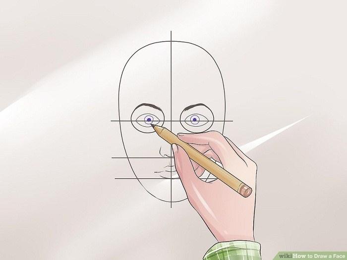 نقاشی پلک ها در بالای چشم
