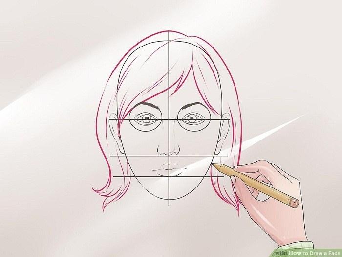 موی سر را نقاشی کنید