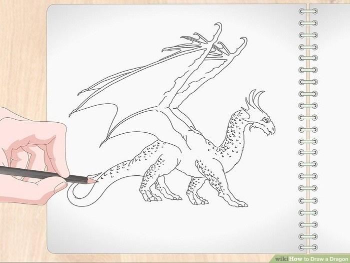 طراحی پوسته پوسته بدن اژدها