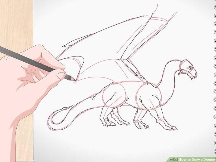 نقاشی بال های اژدها