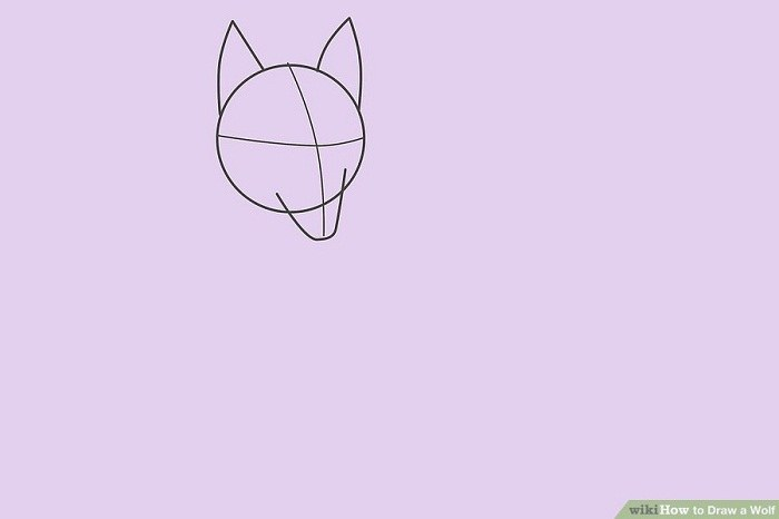 آموزش نقاشی گرگ ساده