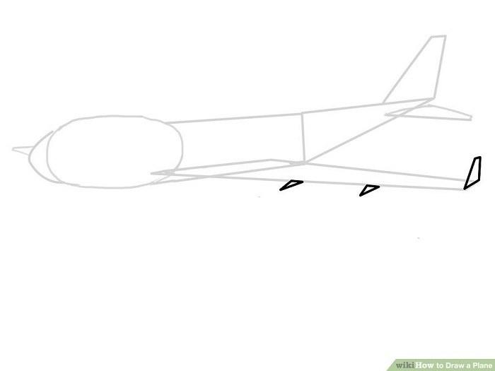 رسم باله های کوچک هواپیما