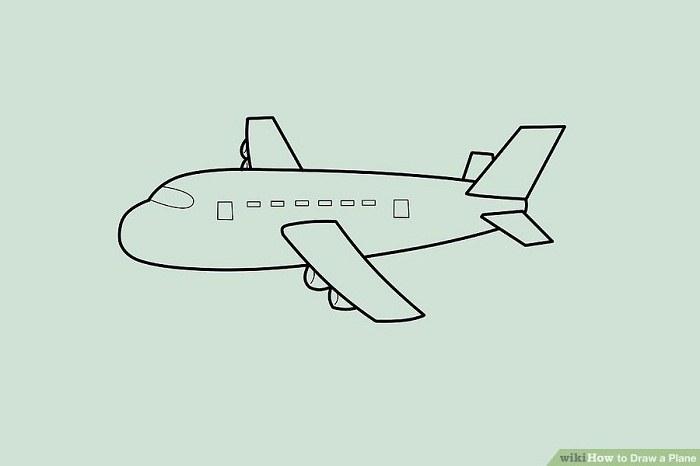 نقاشی جزئیات هواپیما
