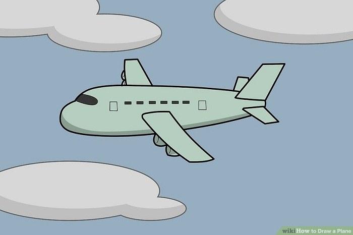 رنگ آمیزی نقاشی هواپیمای کارتونی