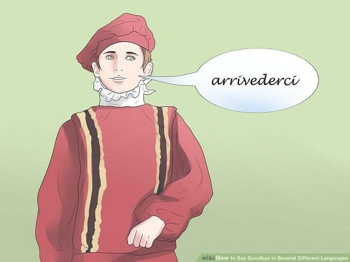 خداحافظی کردن به زبان ایتالیایی