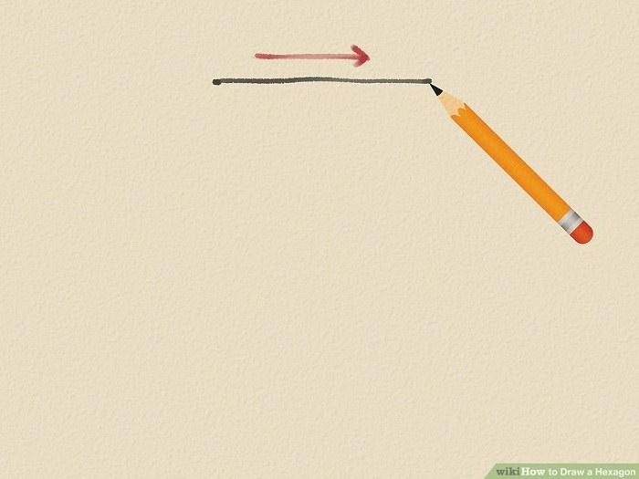 رسم شش ضلعی با مداد