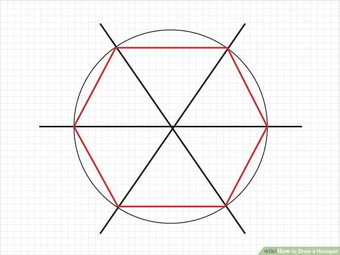 تبدیل هر کدام از این شش قسمت به یک مثلث