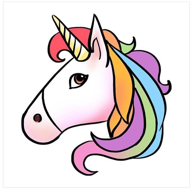 رنگ آمیزی اسب شاخدار