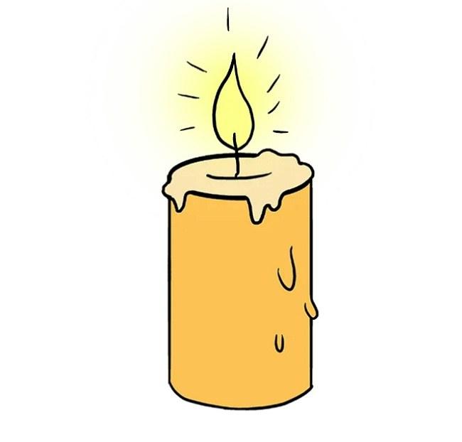رنگ آمیزی نقاشی شمع