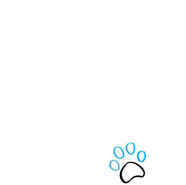 آموزش نقاشی رد پای پنجه گربه (2)