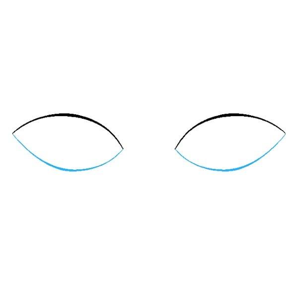 نقاشی چشم برای کودکان مرحله دوم
