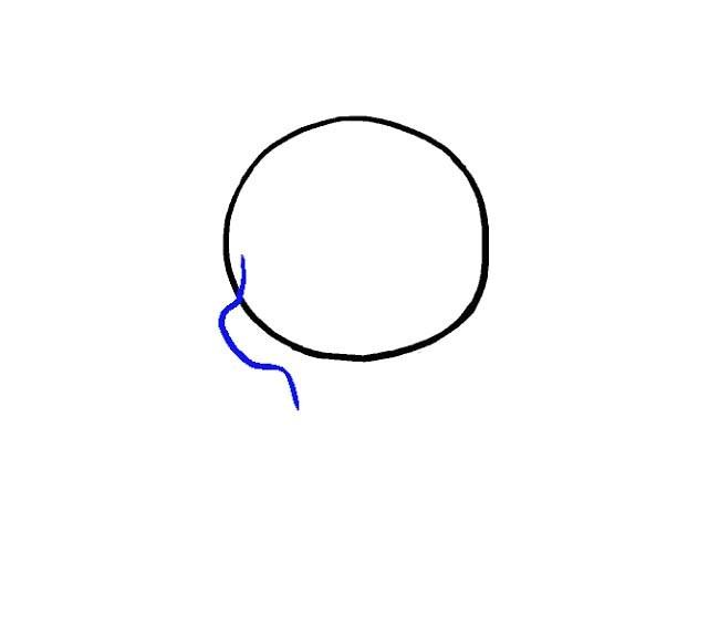 نقاشی جمجمه برای کودکان مرحله دوم