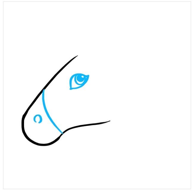 آموزش نقاشی اسب شاخدار (2)