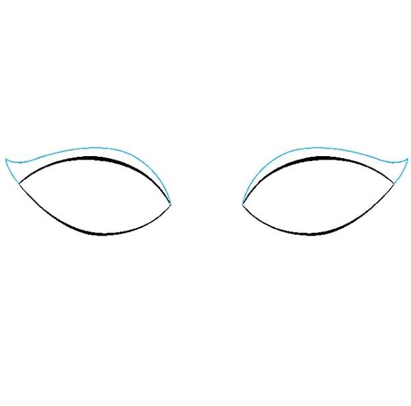 نقاشی چشم برای کودکان مرحله سوم