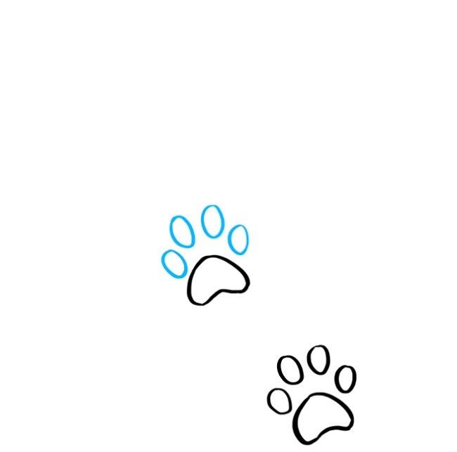 نقاشی کودکانه رد پای پنجه گربه (4)