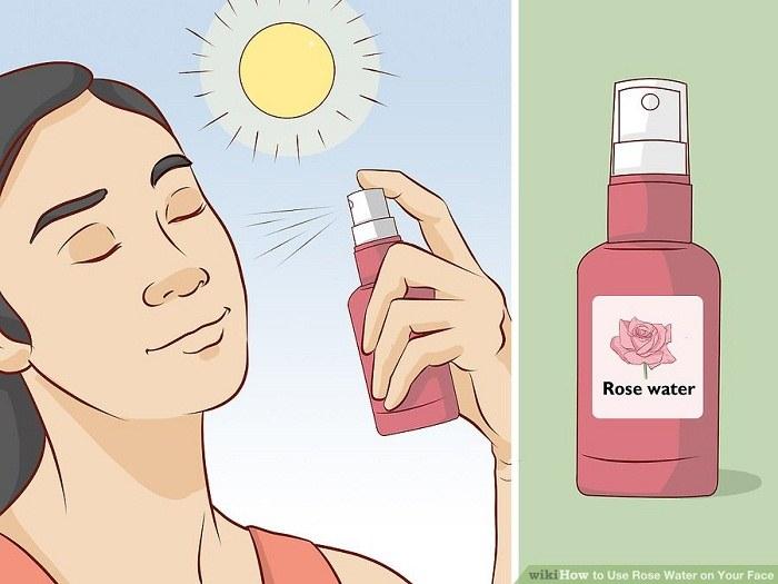 استفاده از گلاب در طول روز برای پوست صورت