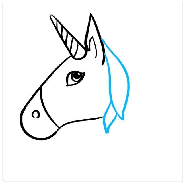 نقاشی آسان اسب شاخدار برای کودکان (4)