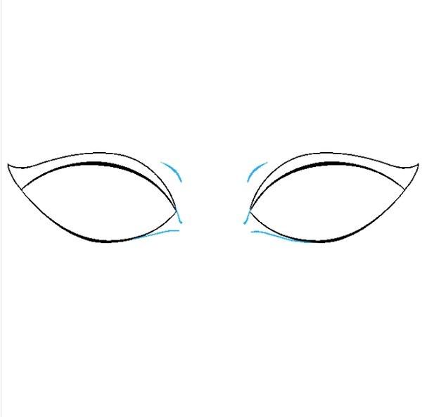 نقاشی چشم کودکانه مرحله چهارم