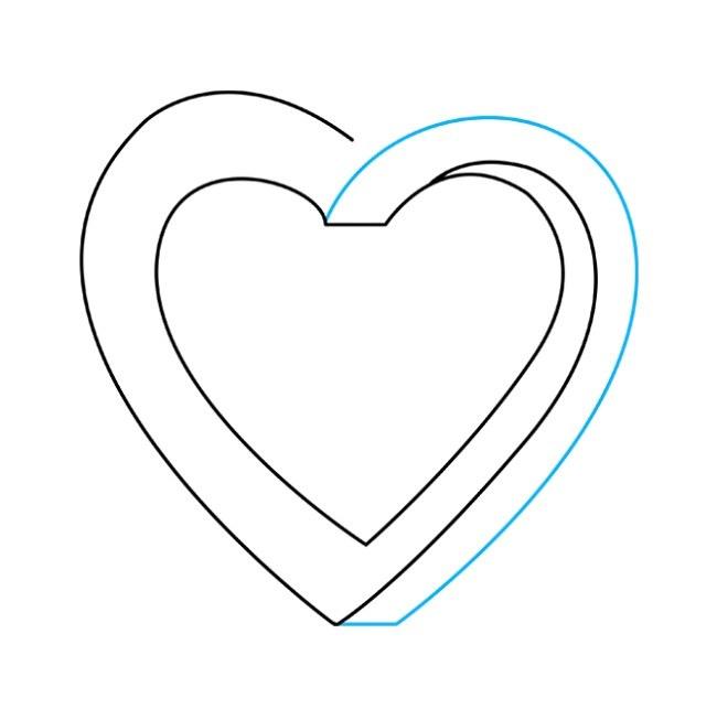 نقاشی قلب غیرممکن مرحله چهارم