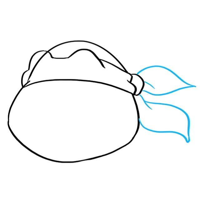 نقاشی کودکانه لاک پشت نینجا مرحله چهارم