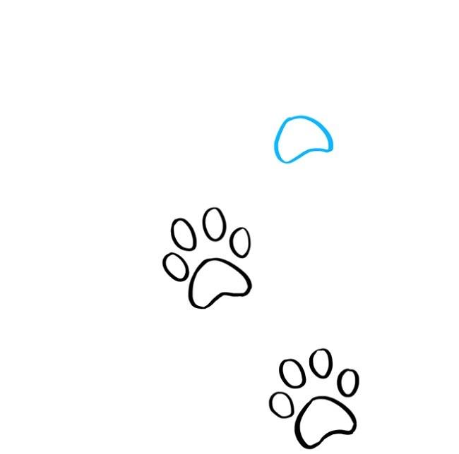 نقاشی آسان رد پای پنجه گربه (5)