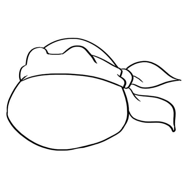 نقاشی لاک پشت نینجا برای بچه ها مرحله پنجم