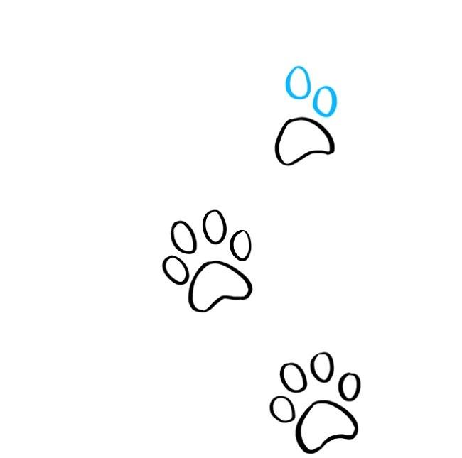 نقاشی رد پای پنجه گربه برای بچه ها ( 6)