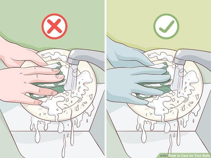 ناخن هایتان را در محیط مرطوب و کثیف نگاه ندارید