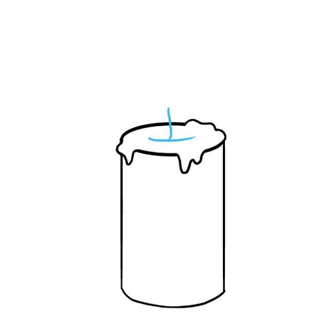 آموزش نقاشی شمع برای کودک مرحله ششم