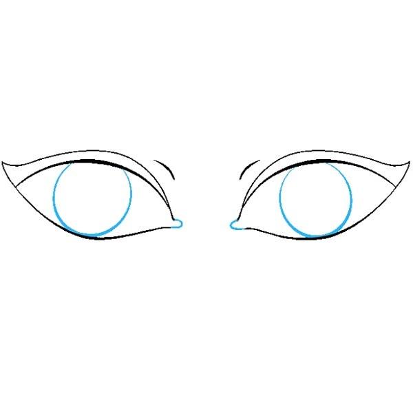 نقاشی چشم برای بچه ها مرحله ششم