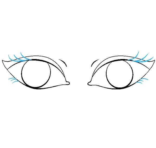 گام به گام نقاشی چشم مرحله هفتم