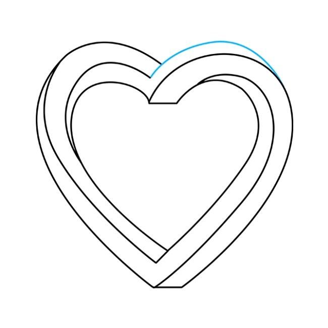 نقاشی قلب غیرممکن مرحله هفتم