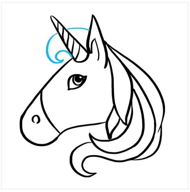 کشیدن نقاشی اسب شاخدار (7)