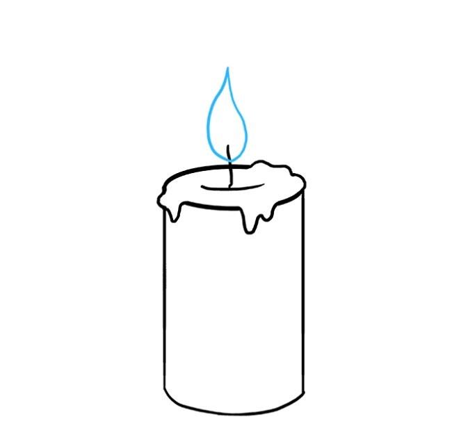 چگونه یک شمع روشن بکشیم