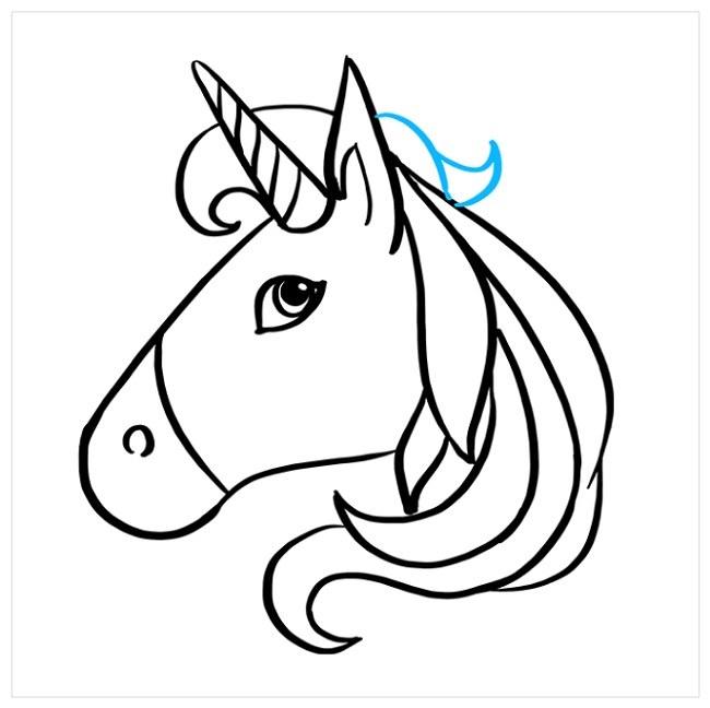 آموزش نقاشی راحت اسب شاخدار (8)