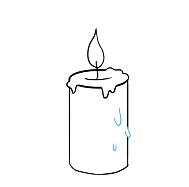نقاشی شمع برای بچه ها مرحله هشتم