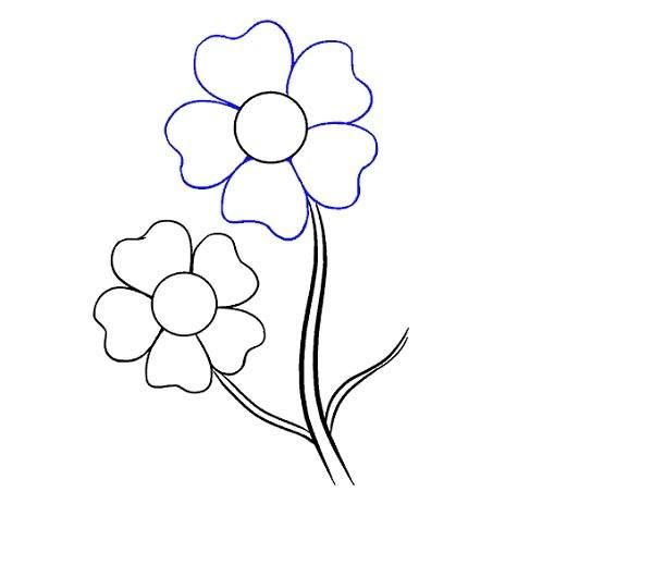 آموزش نقاشی گل کارتونی بچه گانه