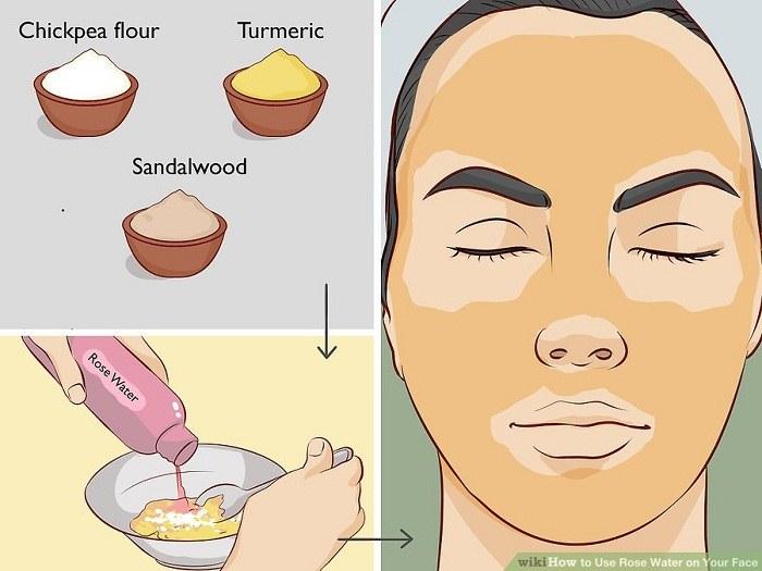 درست کردن ماسک پوست صورت با گلاب